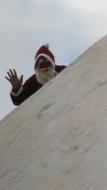 Julenissen kommer til nissefest